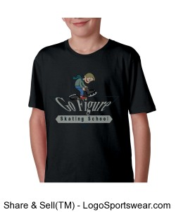 Anvil Youth 100% Ringspun Cotton Fashion Fit Tee Design Zoom